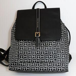 Tommy Hilfiger Backpack/Purse Black White Logo